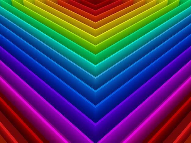 Abstrait Coloré De Fond Arc-en-ciel, 3d Photo Premium