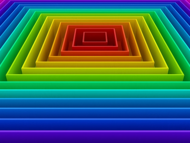 Abstrait Coloré De Fond Arc-en-ciel Courbe, 3d Photo Premium