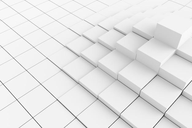 Abstrait de cubes. rendu 3d. Photo Premium