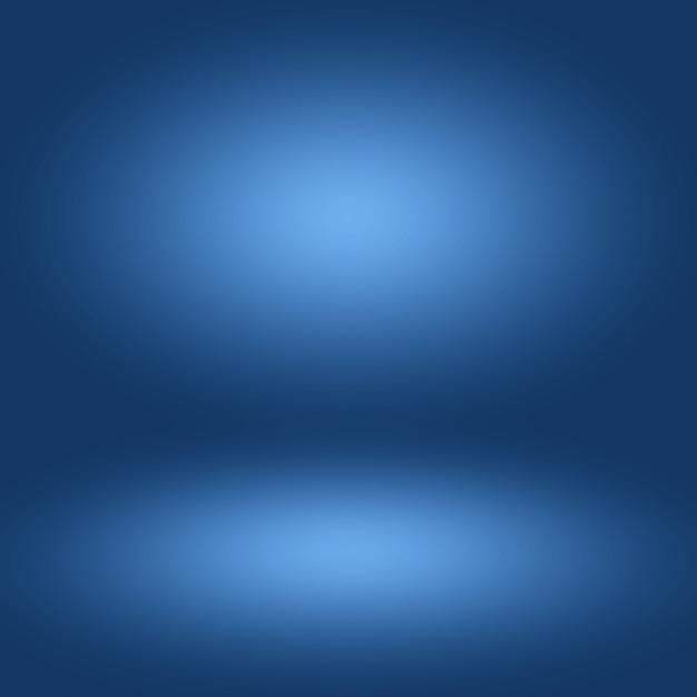 Abstrait Dégradé Bleu Chambre Vide Photo Premium