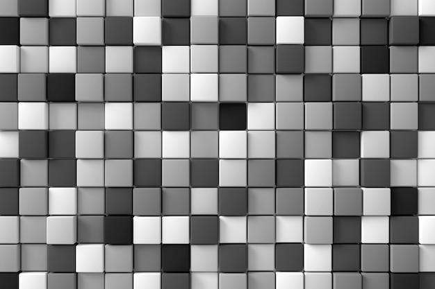 Abstrait du mur moderne. rendu 3d. Photo Premium