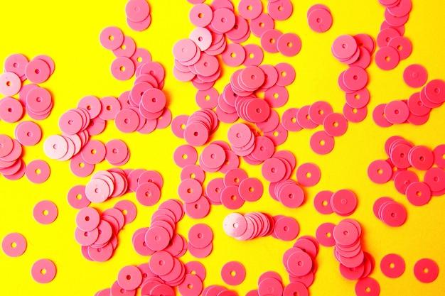 Abstrait élégant avec des paillettes paillettes saprkle rose. Photo Premium