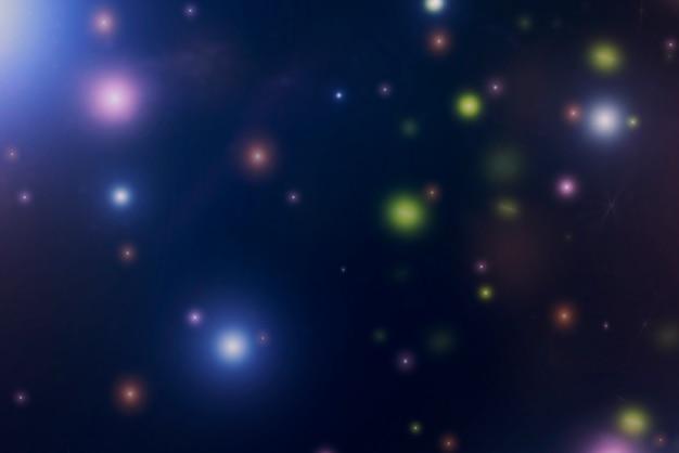 Abstrait d'étoile colorée floue dans le ciel nocturne. Photo Premium