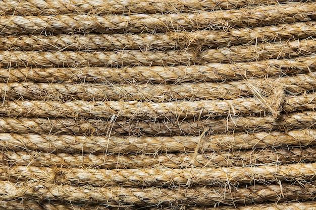 Abstrait fait avec une corde blanche Photo Premium