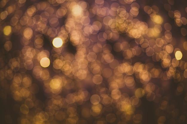 Abstrait Flou Ampoule Bokeh Fond, Concept D'éclairage Hiver Et Noël Photo Premium