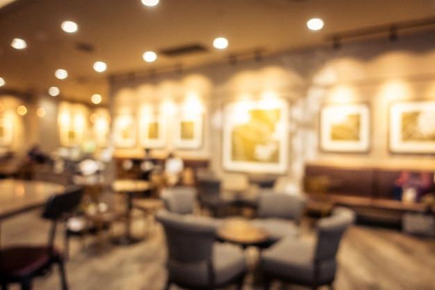 Abstrait flou café intérieur café intérieur Photo gratuit