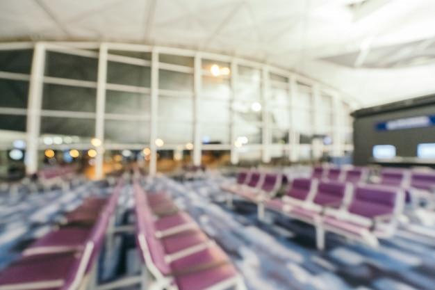 Abstrait Flou Et Défocalisé Intérieur De Terminal De L'aéroport Photo gratuit