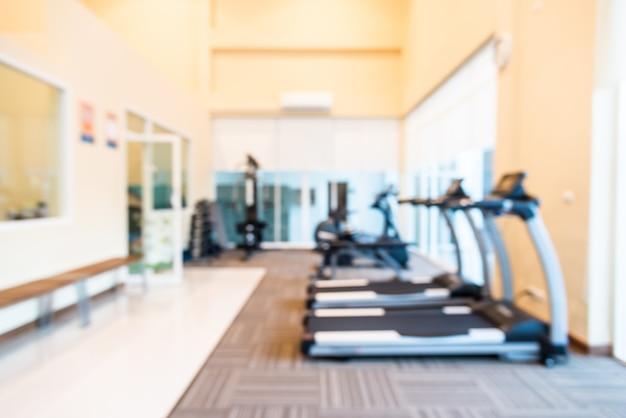Abstrait flou fond de salle de gym fitness Photo gratuit