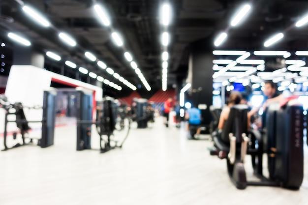 Abstrait flou gym et intérieur de la salle de fitness Photo gratuit