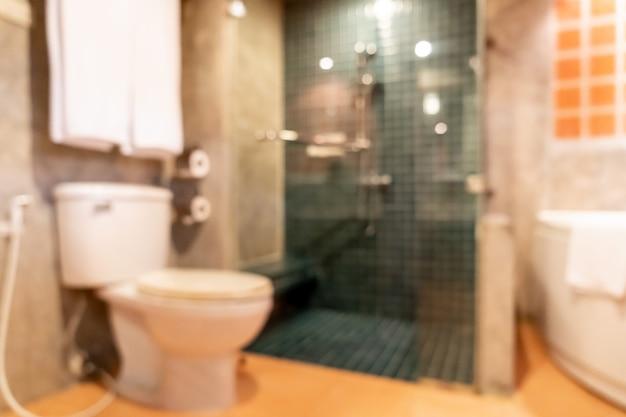 Abstrait flou intérieur de salle de bain et toilette Photo Premium