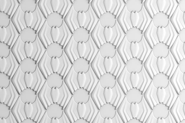 Abstrait fond coloré géométrique basé sur une grille hexagonale avec l'image des chauves-souris Photo Premium