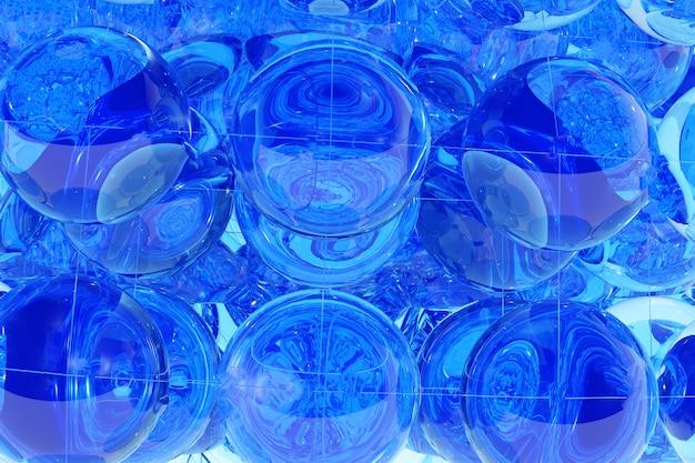 Abstrait géométrique bleu Photo Premium