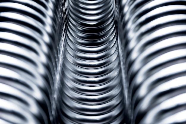 Abstrait Industriel De La Construction De Tuyaux Métalliques. Photo Premium