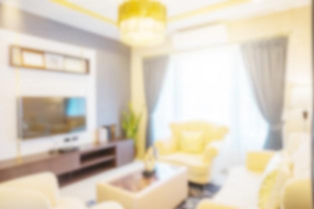 Abstrait intérieur flou Photo Premium