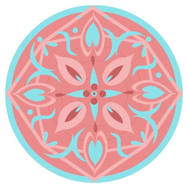 Abstrait Motif Rond Multicolore. Fond Blanc. Photo Premium