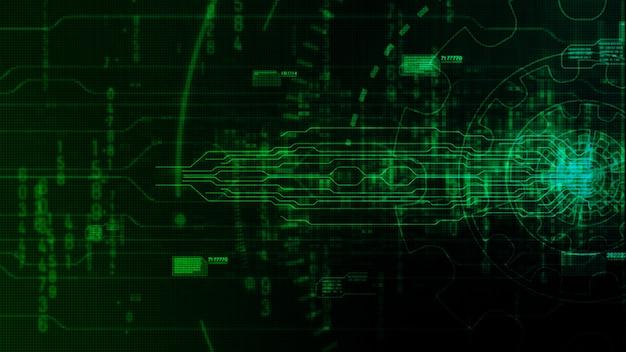 Abstrait numérique hi-tech avec équipement technologique Photo Premium