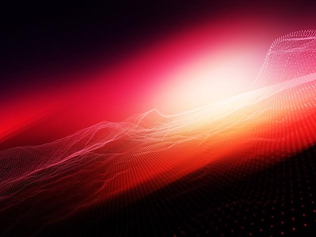 Abstrait avec des particules de particules qui coule sur fond flou brillant Photo gratuit