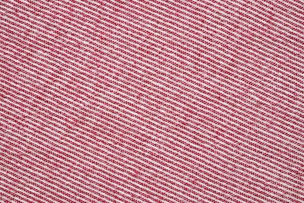 Abstrait Rayé Rouge Et Blanc Vêtements Tissu Texture De Fond Photo Premium