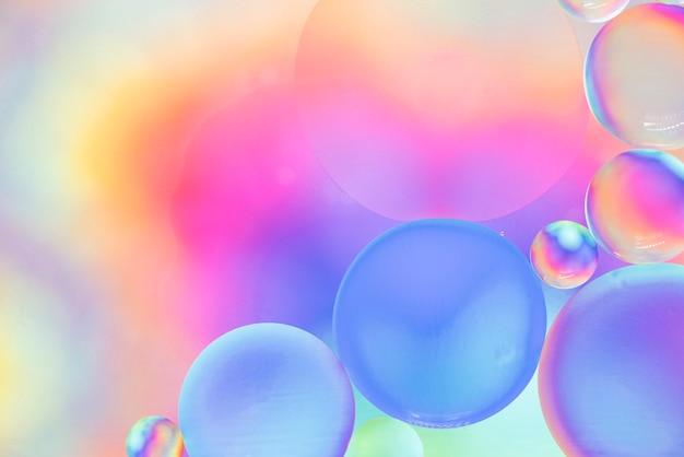 Abstrait rose et jaune avec des bulles Photo gratuit