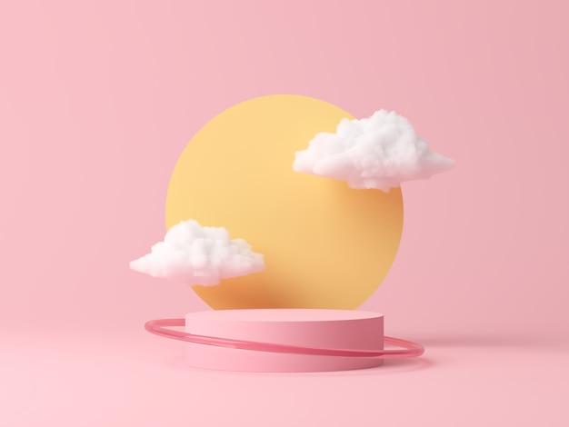 Abstrait, Scène Pour L'affichage Du Produit. Rendu 3d Photo Premium