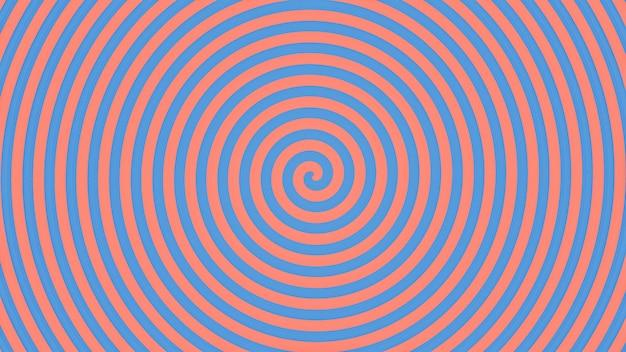 Abstrait spirale bleue et rose Photo Premium