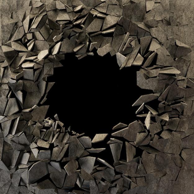 Abstrait de terre fissurée Photo Premium