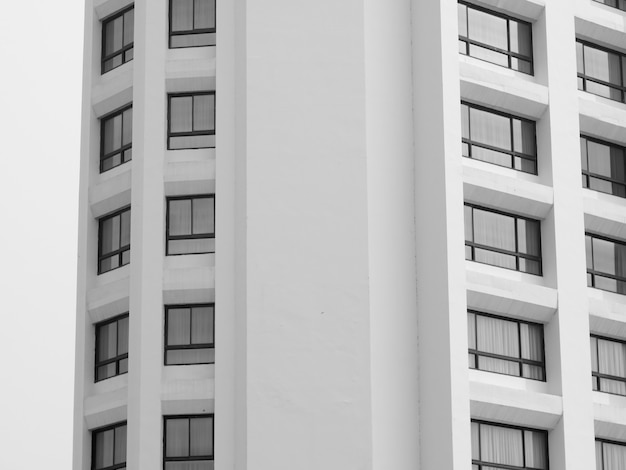 Abstrait texture d'architecture de construction de fenêtre Photo Premium