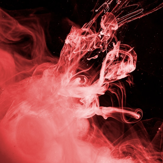 Abstraite Brume Rouge Dans Un Liquide Sombre Photo gratuit