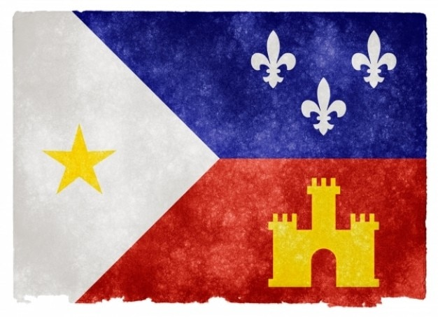 Acadiana grunge flag Photo gratuit