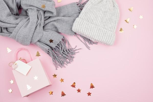 Accessoires femme chaud pour l'hiver froid Photo Premium
