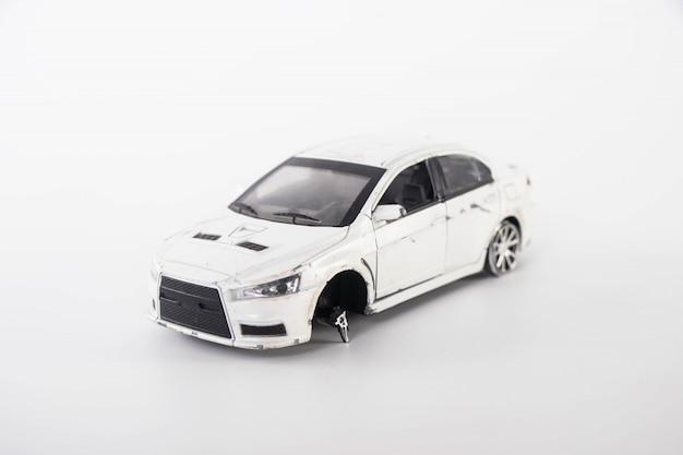 Accident de voiture jouet Photo Premium