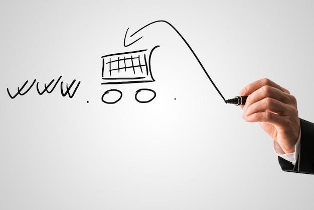 Achats En Ligne Et Concept De Commerce électronique Photo Premium
