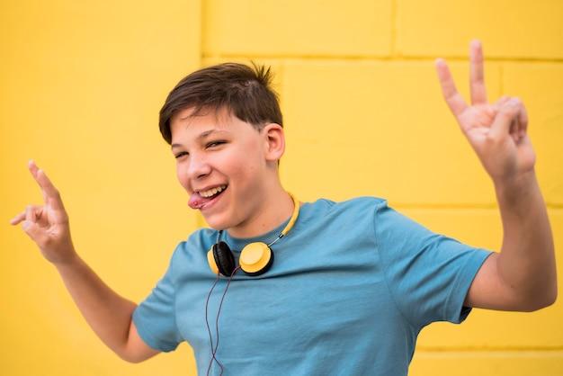 Adolescent, écouter De La Musique Photo gratuit