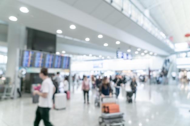 Aéroport Flou Abstrait Et Défocalisé Photo Premium