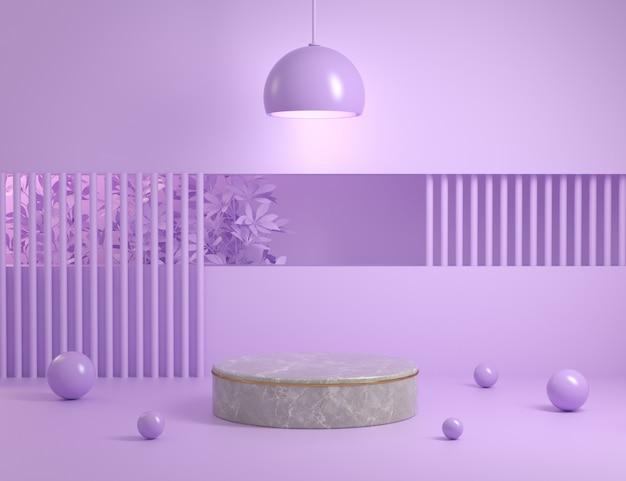 Affichage De Modèle Minimal Violet Pour Le Rendu 3d Du Produit Photo Premium