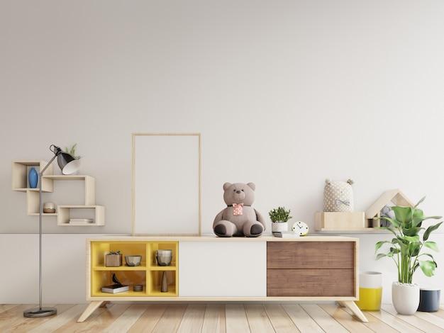 Affiches à l'intérieur de la chambre d'enfant, rendu 3d Photo Premium