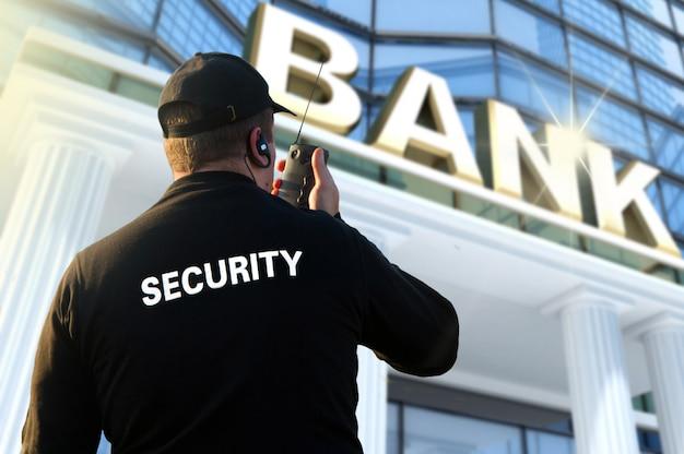 Agent de sécurité bancaire Photo Premium