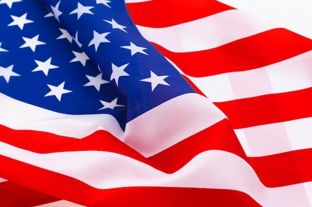 Agitant le drapeau américain Photo Premium