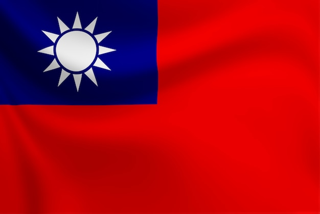 Agitant du drapeau de taiwan. Photo Premium