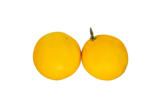 Agrumes Frais Bio Orange Isolé Sur Blanc Photo Premium