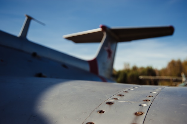 Aile de vieil avion Photo Premium