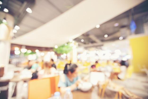 Aire de restauration floue au supermarché / centre commercial pour le fond Photo Premium