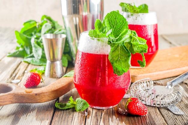Akvavit cocktail alcoolique d'été Photo Premium