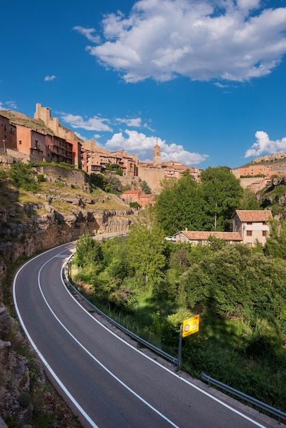 Albarracin, village médiéval de teruel, en espagne. Photo Premium