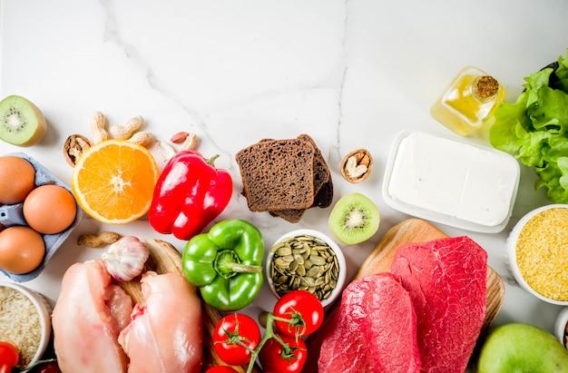 Aliment diététique sain fodmap Photo Premium
