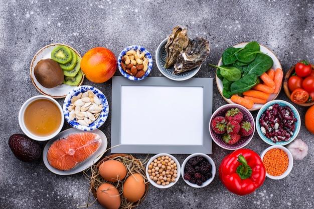 Aliment Riche En Collagène. Des Produits Sains Photo Premium