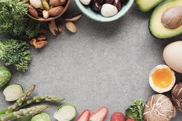 Alimentation saine, régime amaigrissant Photo Premium