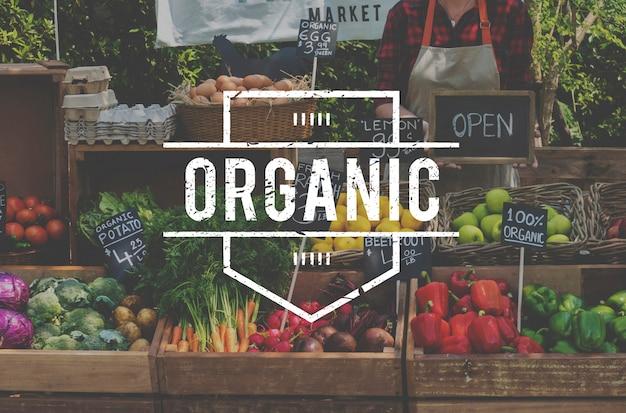 Aliments sains bio produits fermiers frais Photo gratuit