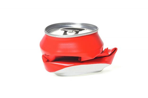 Aluminium rouge peut aplati Photo Premium