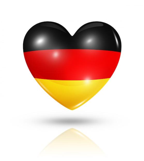 Amour Allemagne Icône De Drapeau De Coeur Photo Premium